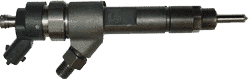 A Bosch diesel injector, which is essential for pressurizing and injecting fuel into the diesel engine combustion chamber