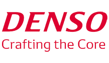 DENSO logo, a Japan-based manufacturer of automotive components and diesel car parts