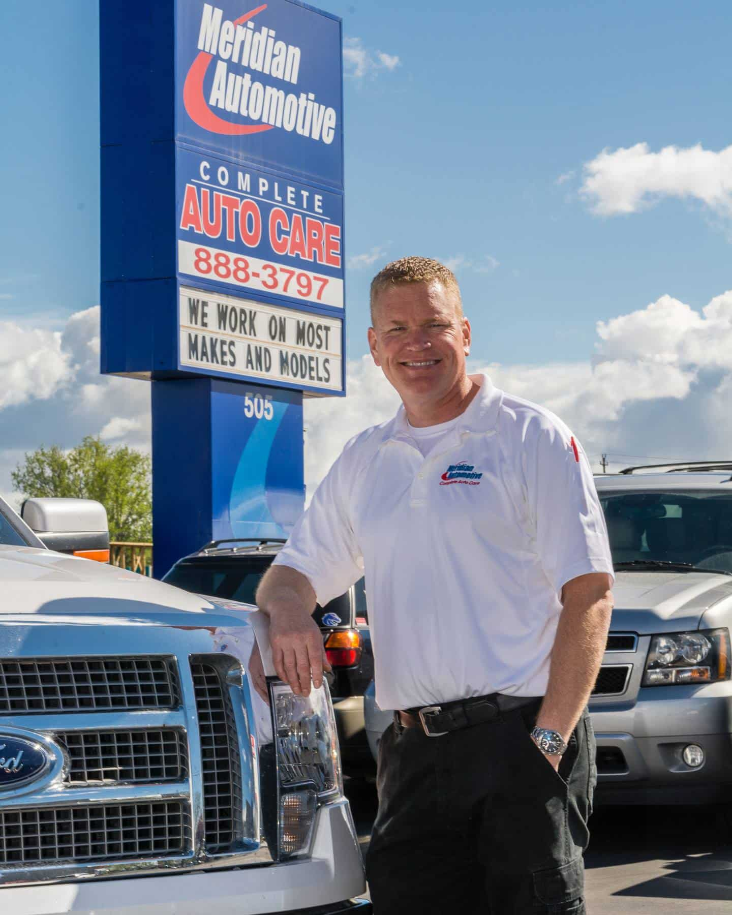 Photo of John Nesmith, owner of Gem State Diesel and Turbo Repair in Idaho and seasoned race car driver